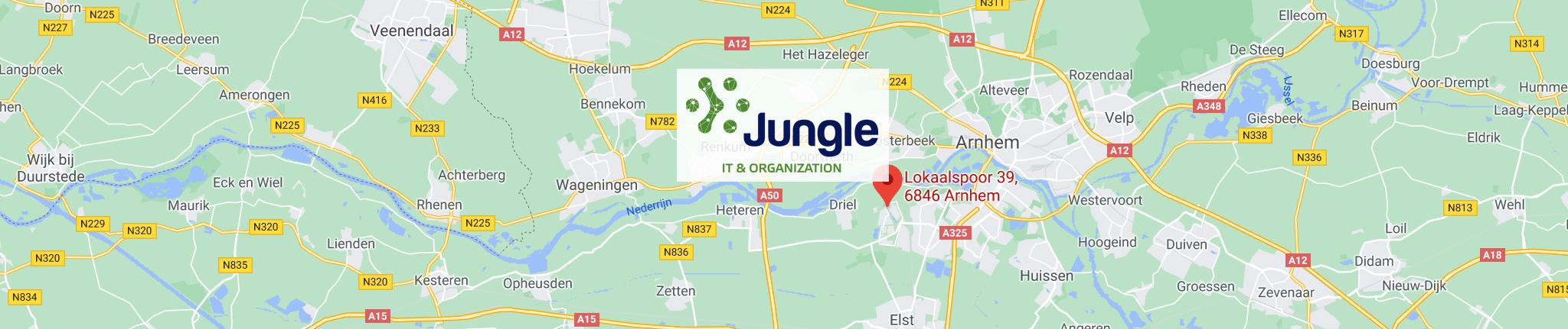 Kaart en route naar Jungle It & Organization